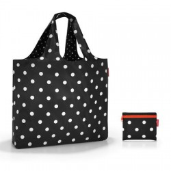 Чанта за плаж mini maxi Reisenthel - Черна на бели точки