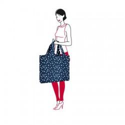 Чанта за плаж mini maxi Reisenthel - Тъмно синя на точки
