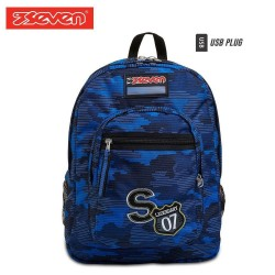 Seven® Ученическа раница Freethink Blue