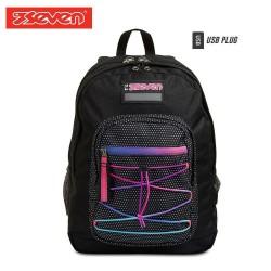 Seven® Ученическа раница Freethink Neon