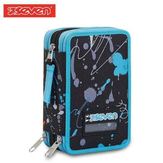 Seven® Ученически несесер с 3 ципа зареден Spray