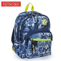 Seven® Ученическа раница SJ Blue