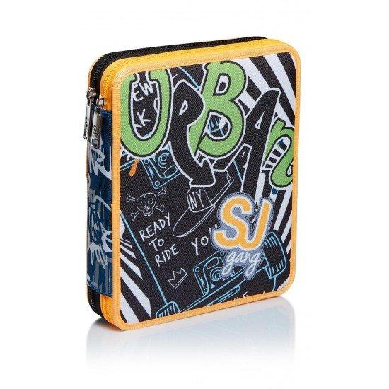 Seven S.P.A Italy Пълен ученически несесер SJ Graffiti Maxi, 2 отделения 46978