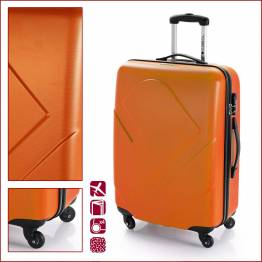 ABS куфар 66 см. оранж – Icon