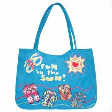 Time For Плажна чанта - Синя 100123 Куфари и чанти