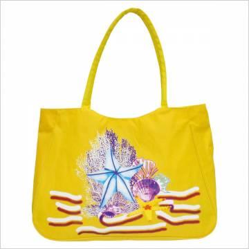 Time For Плажна чанта - Жълта 100121 Куфари и чанти