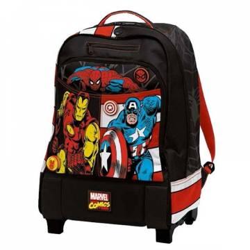 Auguri Preziosi Ученическа раница с две отделения на колела Х-ролей Marvel 00496