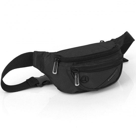 Мъжка чанта Twist за кръст черна
