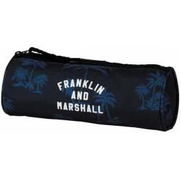 Stationery Team Празен ученически кръгъл несесер Franklin and Marshall Blue 10925