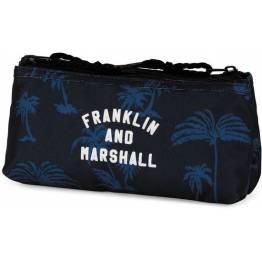Stationery Team Празен двоен ученически несесер Franklin and Marshall Blue 10927