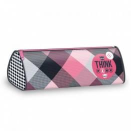 Ars Una Празен овален ученически несесер Think Pink 92997622