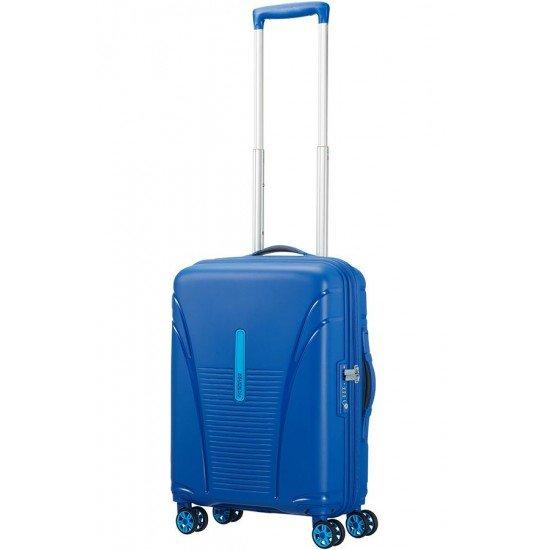 American Tourister куфар Skytracer 55 см - син