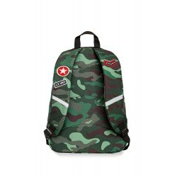 Cool Pack раница CROSS - CAMO GREEN BADGES