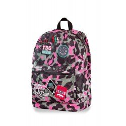 Cool Pack раница CROSS - CAMO PINK BADGES