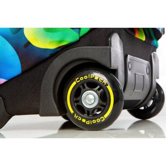 Cool Pack Светеща LED раница на колела Rainbow Leaves Joy L