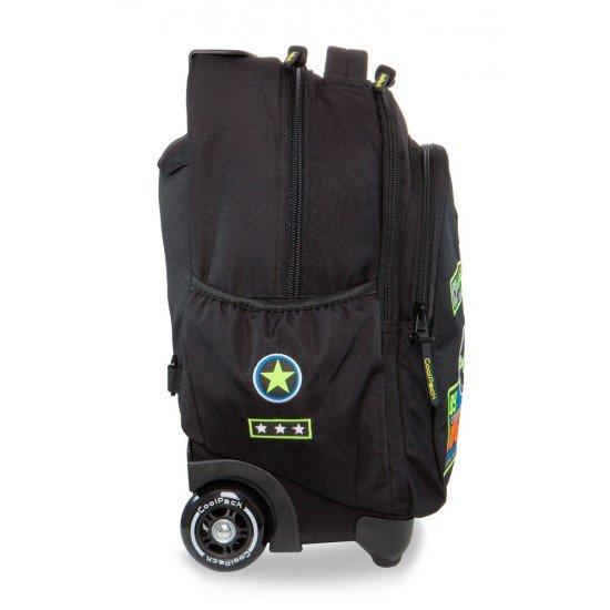 Раница на колела JUNIOR - Badges Black