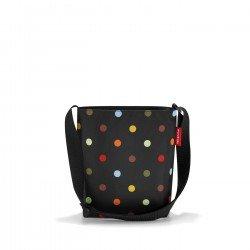 Чанта през рамо Reisenthel S -  Черна на точки