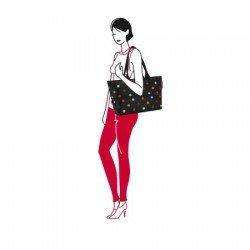 Разгъваема чанта за пазаруване Reisenthel Райе - Черна на точки