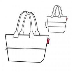 Разгъваема чанта за пазаруване Reisenthel Райе - Черна на бели точки