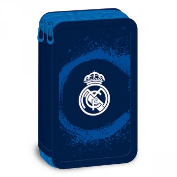 Ars Una Празен несесер с два ципа Real Madrid 92668386 Ученически пособия