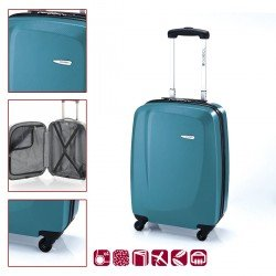 ABS куфар 55 см. тюркоаз - Line