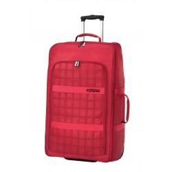 American Tourister Сгъваем червен сак на 2 колелца Construct 55 см. - червен