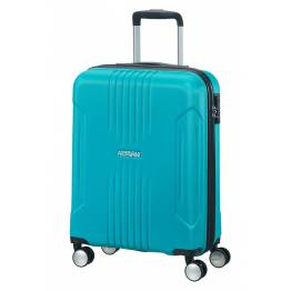 American Tourister куфар Tracklite 55 см - небесно син