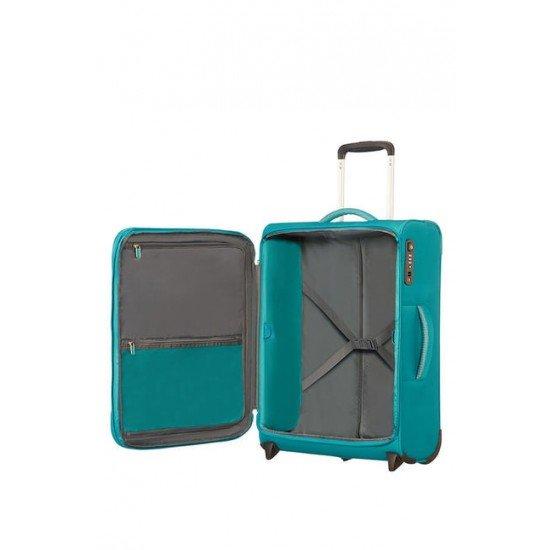 American Tourister Куфар Airbeat 55 см - светло син
