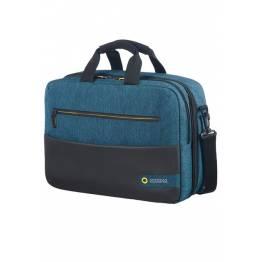 Бордна чанта с отделение за лаптоп 15.6inch City Drift - черен/син
