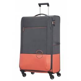 American Tourister куфар Instago 81 см - сив/праскова