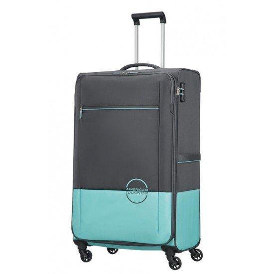 American Tourister куфар Instago 81 см - сив/светло син