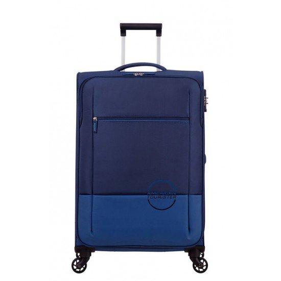 American Tourister куфар Instago 68 см - тъмно син/светло син