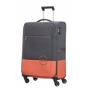 American Tourister куфар Instago 68 см - сив/праскова