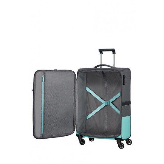 American Tourister куфар Instago 68 см - сив/светло син