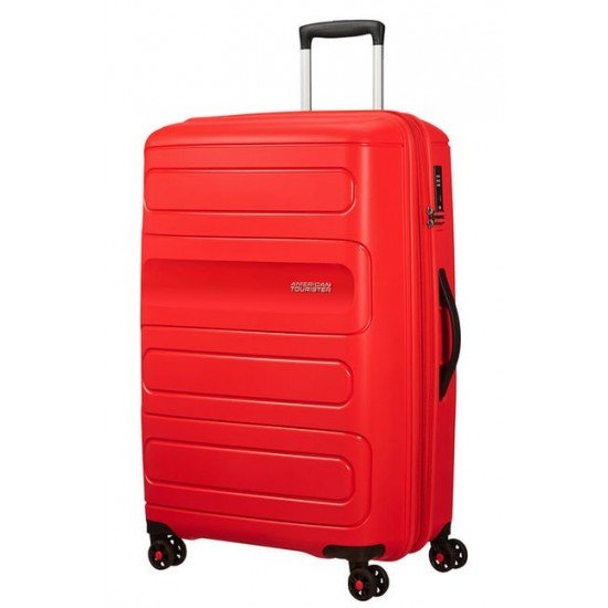 American Tourister куфар Sunside 77 см - червен