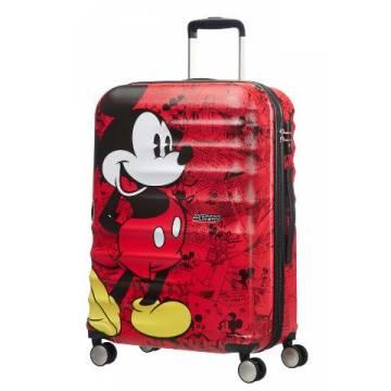 American Tourister куфар Wavebreaker Mickey Comics 67 см - червен