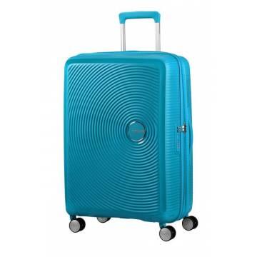 American Tourister куфар Soundbox 67 см - лятно синьо