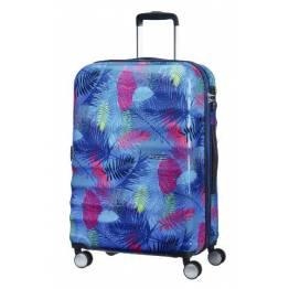 American Tourister сет от три куфара Wavebreaker 55 см, 67 см и 77 см. - Neon Palms