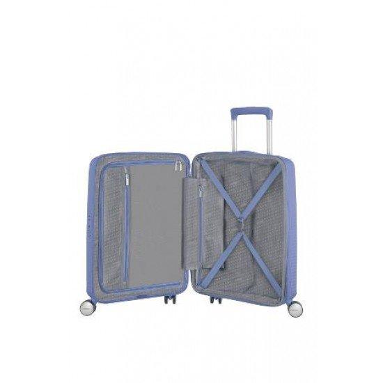 American Tourister куфар Soundbox 55 см - син