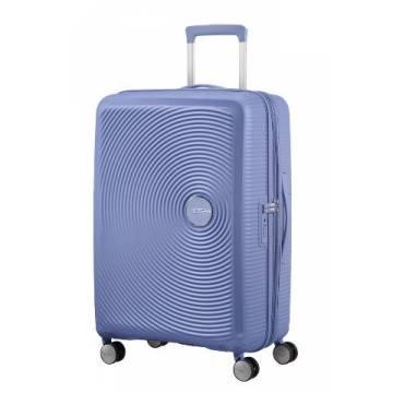 American Tourister куфар Soundbox 67 см - син