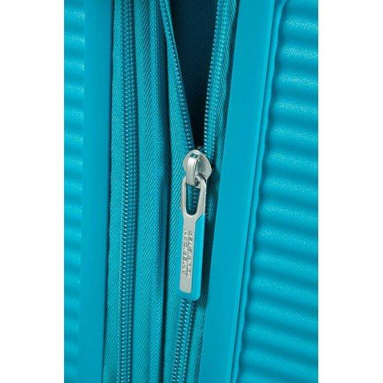 American Tourister куфар Soundbox 55 см - лятно синьо