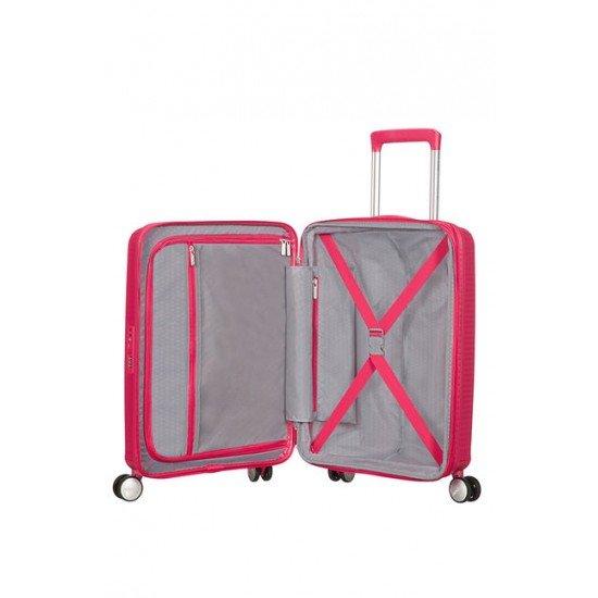 American Tourister куфар Soundbox 55 см - розов