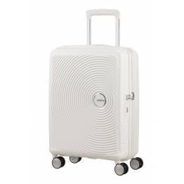 American Tourister куфар Soundbox 55 см - бял