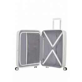American Tourister куфар Soundbox 67 см - бял
