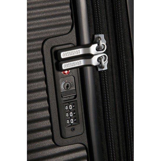 American Tourister куфар Soundbox 77 см - черен