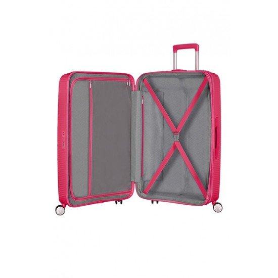 American Tourister куфар Soundbox 77 см - светло розово