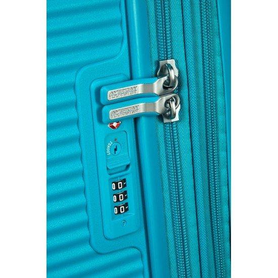 American Tourister куфар Soundbox 77 см - лятно синьо