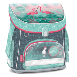 Ars Una Анатомична ученическа раница - Pink Flamingo Compact
