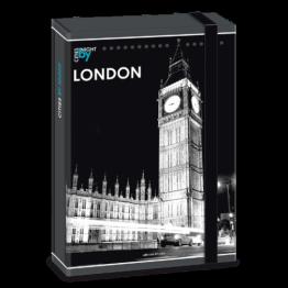 Ars Una кутия с ластик A4 London by night Ученически пособия
