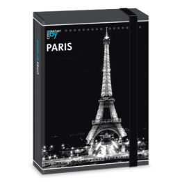 Ars Una кутия с ластик A4 Paris by night Ученически пособия